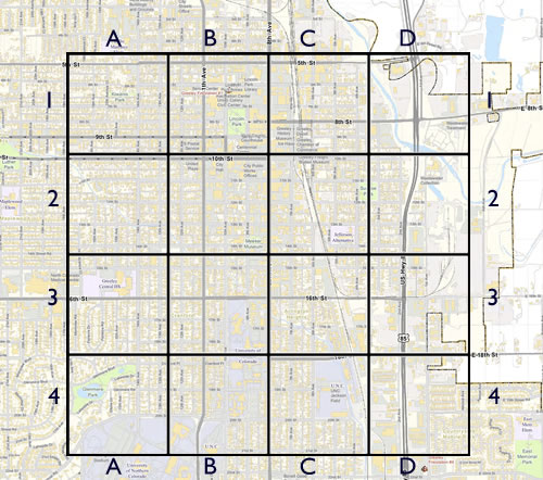 greeley with a grid