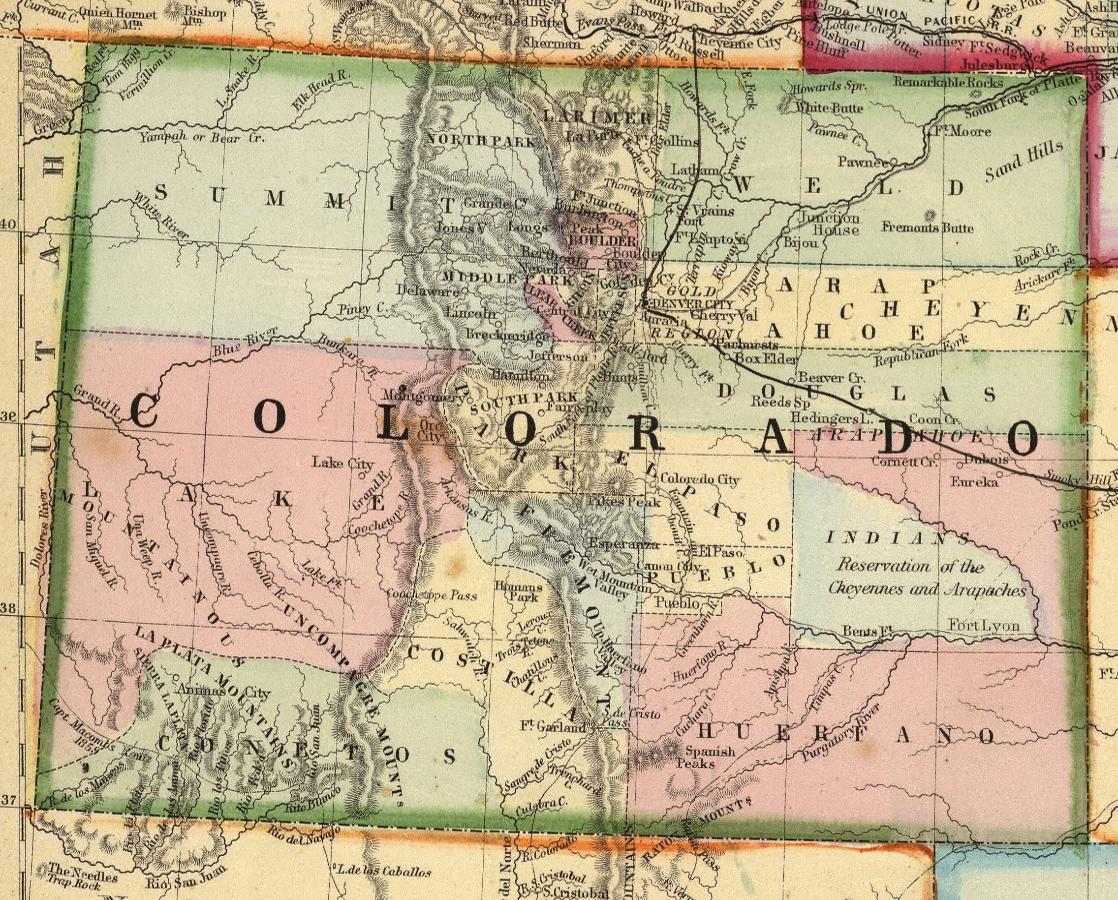 Location of Greeley Colorado with Maps