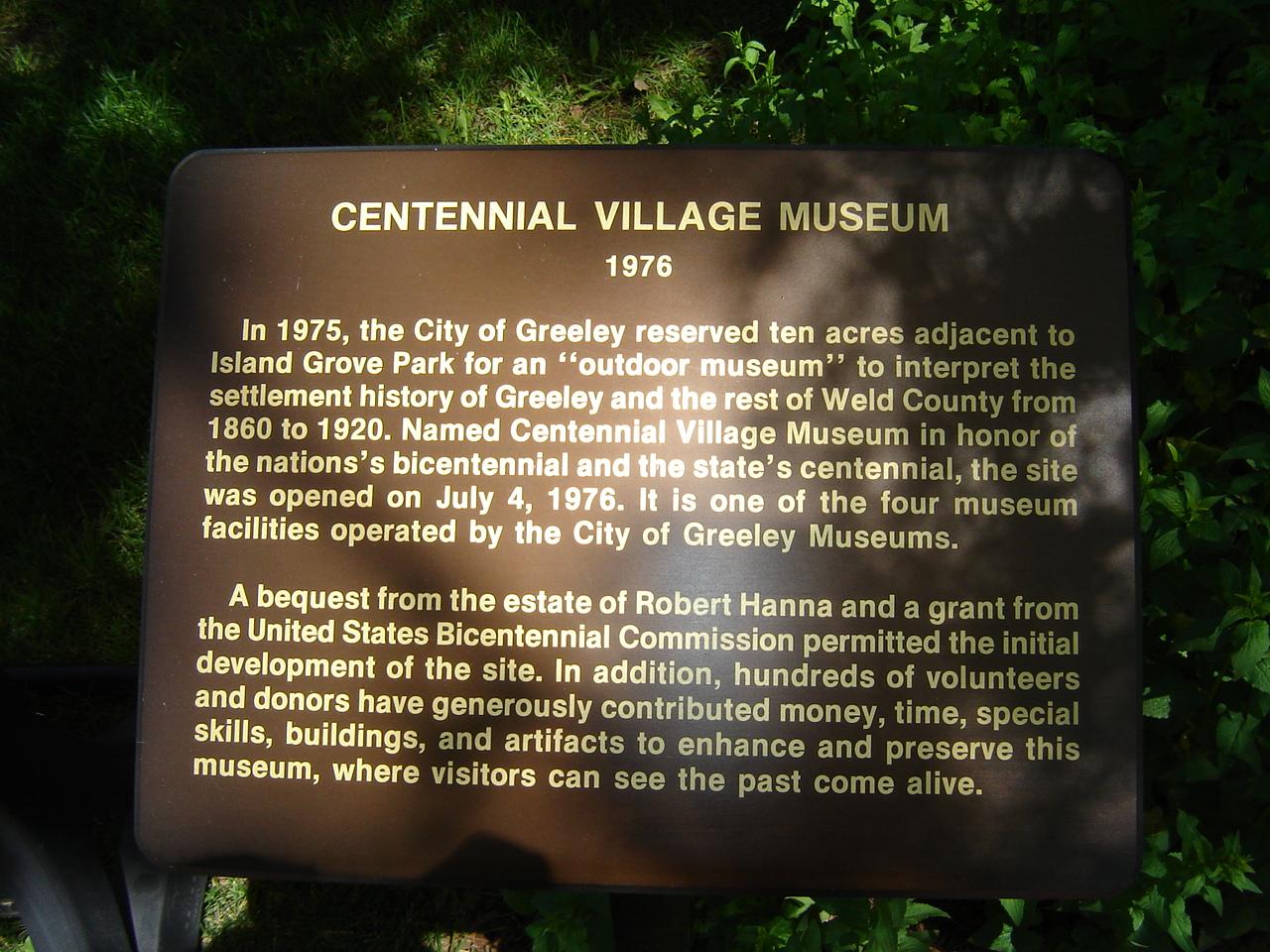 Centennial Village in Greeley, Colorado