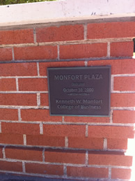 Monfort Plaza plaque