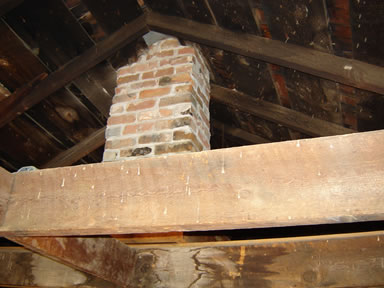 chimney inside courthouse