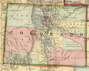 Colorado Map 1870